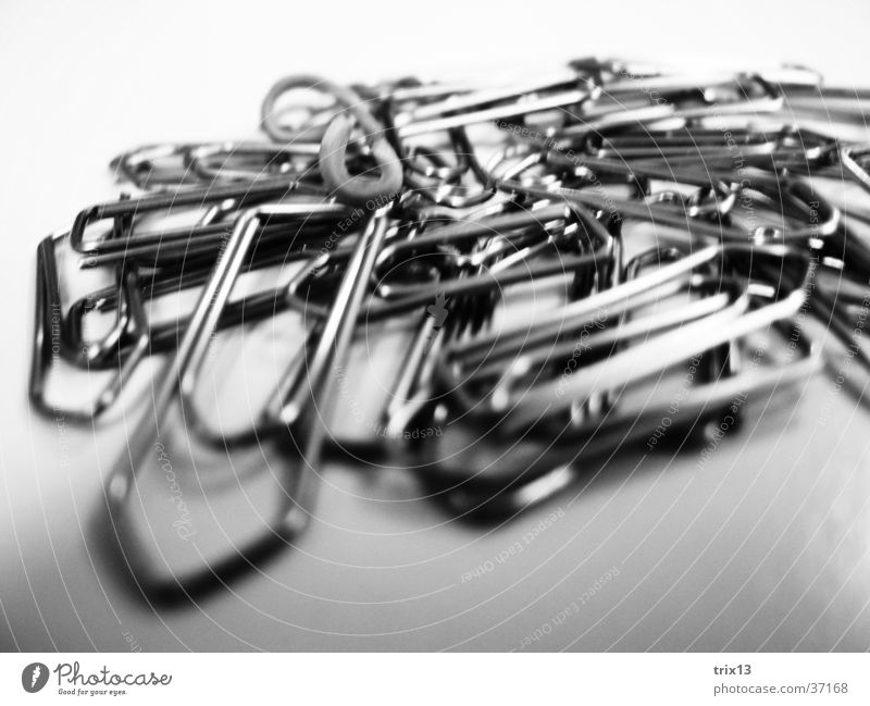 paperclips Paper clip Black White Macro (Extreme close-up) Heap Chaos Things staples