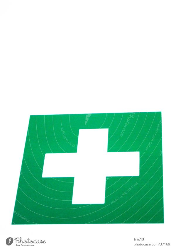 Pharmacy! Green White Rectangle Square First-aid box Things Back