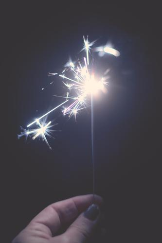 anticipation   i don't know yet what, but i'll light a sparkler Anticipation Sparkler Light Fire luminescent by hand Fingers conceit Bright New Year's Eve
