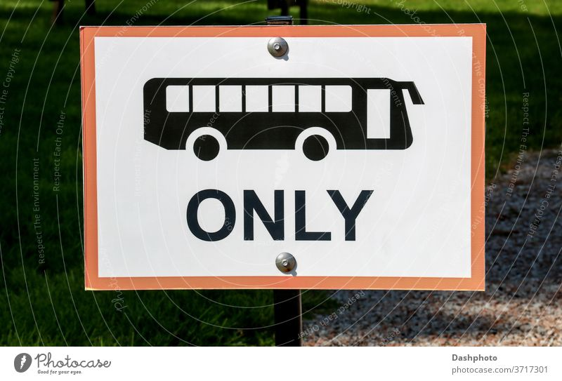 Buses Only Parking Sign at a Country Car Park attraction event gathering country fair sign signboard signpost buses buses only bus parking bus parking only