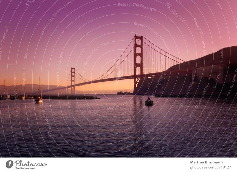 The famous Golden Gate Bridge in San Francisco , seen from Point Cavallo gate bridge pacific california golden san francisco cavallo point structure suspension