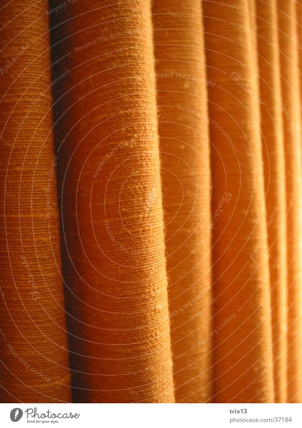 curtain Drape Pattern Vertical Yellow Vaulting Photographic technology Detail Orange Shadow Living or residing