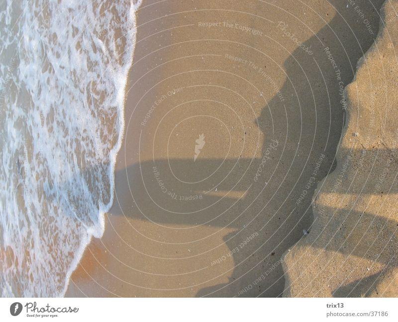 shade in the sand Ocean Beach Waves Vaulting Length Foam Europe Sun Shadow