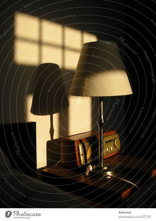morning light Light Lamp Hotel Style Living or residing sun shadow Radio (broadcasting) Old fashioned old style