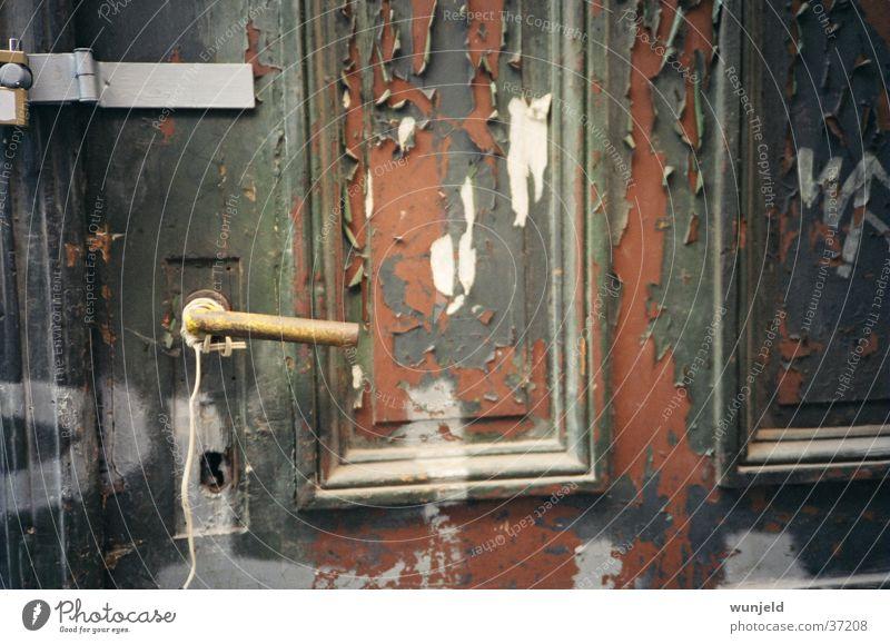 Old Green Brown Door Leisure and hobbies Derelict Entrance