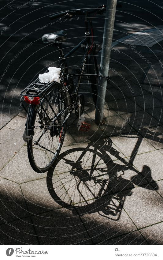 bicycle Bicycle Safety Parking chain lock Bollard bicycle lock Lanes & trails off Means of transport Deserted Shadow
