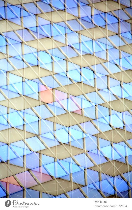 Blue City Window Architecture Building Style Line Exceptional Art Facade Lifestyle High-rise Modern Crazy Change Uniqueness