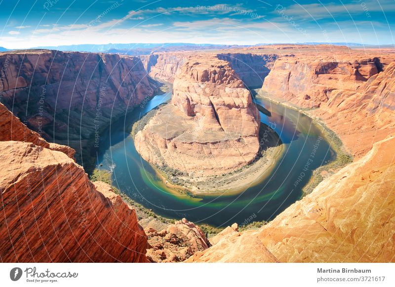 The Horseshoe Bend in Arizona, a meander of the Colorado River in Glen Canyon horseshoe bend arizona landscape travel river canyon water colorado grand nature