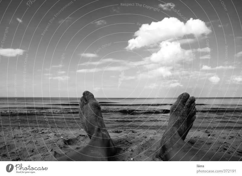 on Sunday Baltic Sea Feet Beach Sand Sky Clouds