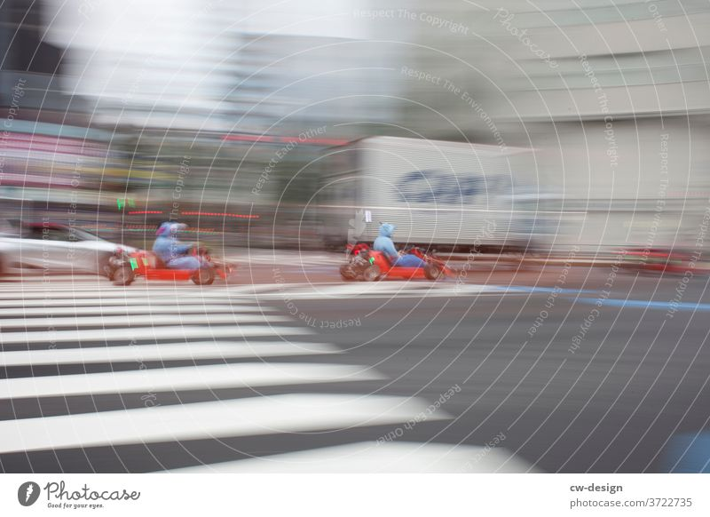 Dynamic on the road in Japan Road traffic Exterior shot Movement Street Traffic infrastructure Means of transport Driving Colour photo Motoring Transport