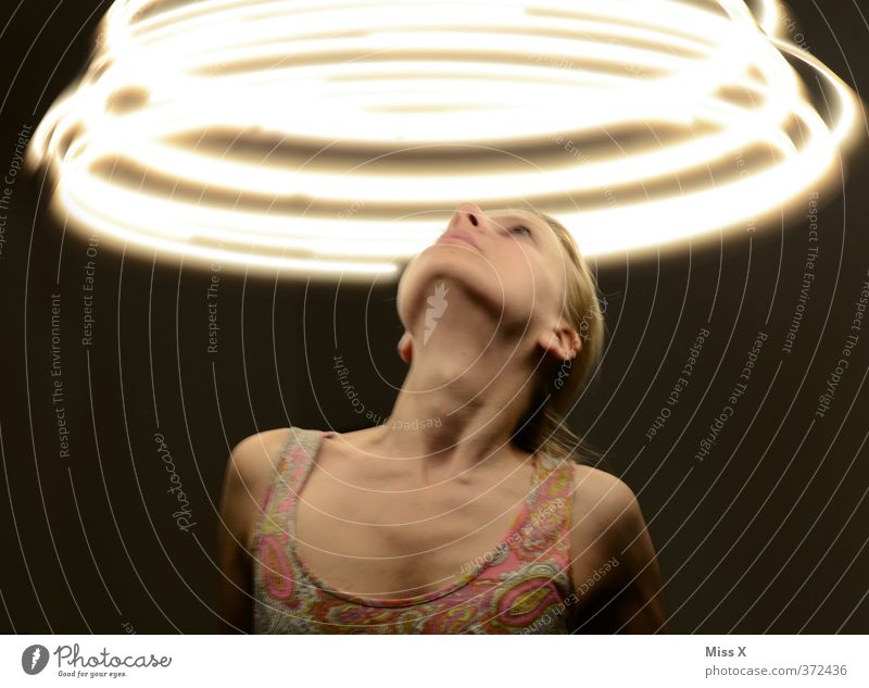 Human being Woman Youth (Young adults) Adults 18 - 30 years Fear Contentment Illuminate Dangerous Creepy Stress Rotate Distress Nerviness Experience UFO