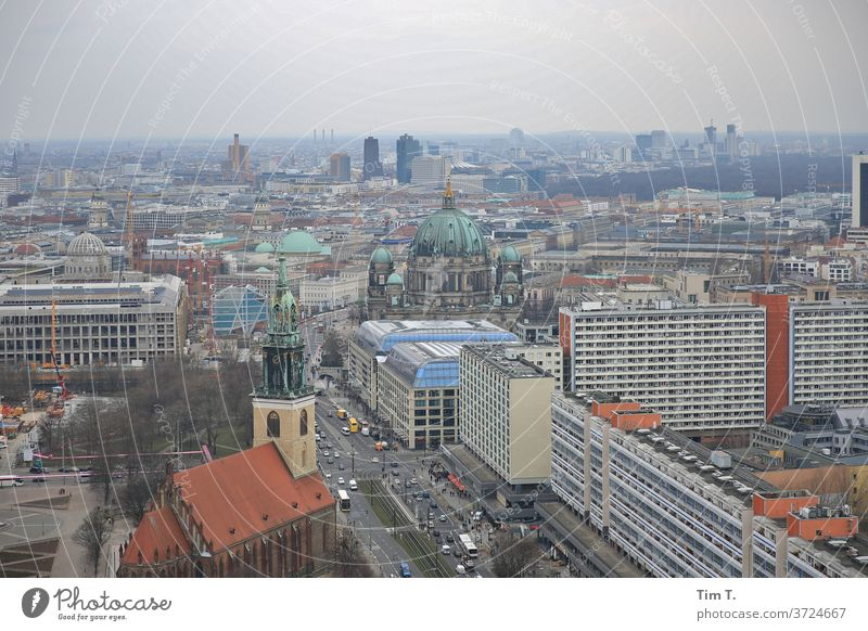 East Berlin hotel view Hotel Town Middle Dome Church city palace Capital city Exterior shot Downtown Colour photo Tourist Attraction Landmark Downtown Berlin