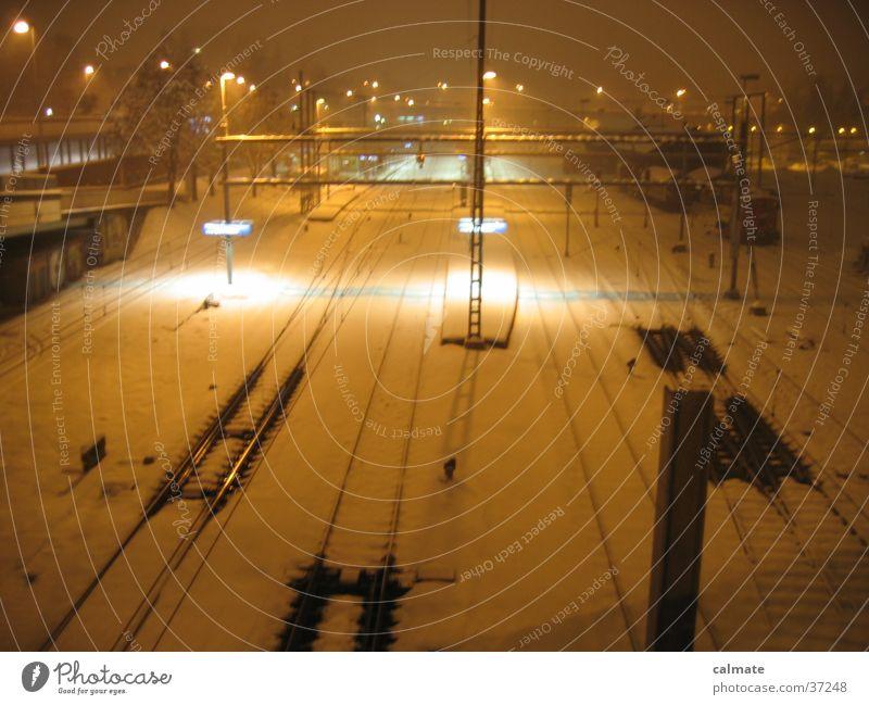 Winter Snow Transport Railroad Railroad tracks Federal State of Styria Austria Saint Gallen