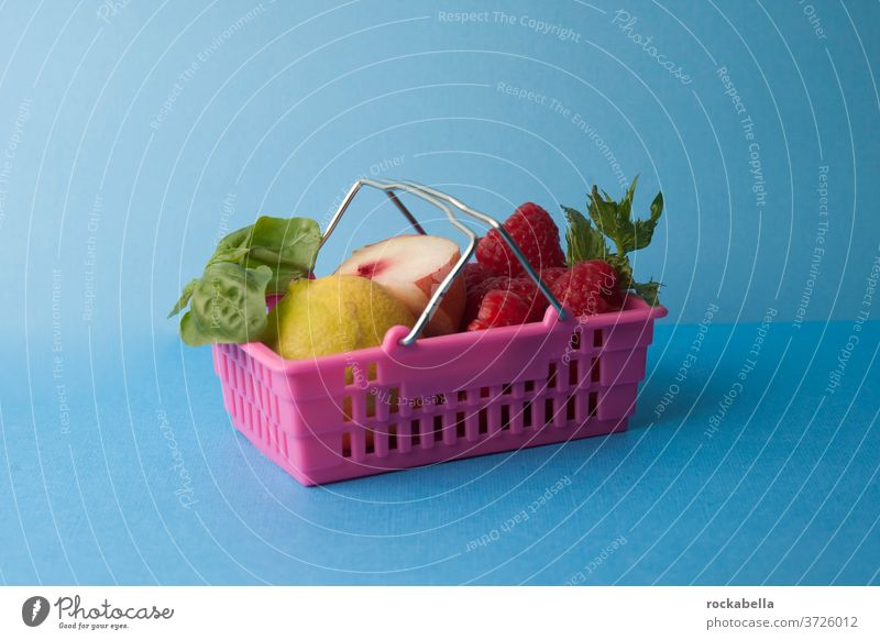 Small purchase Shopping basket Supermarket Food fruit fruits Healthy Eating Nutrition Fresh Delicious Vitamin vitamins