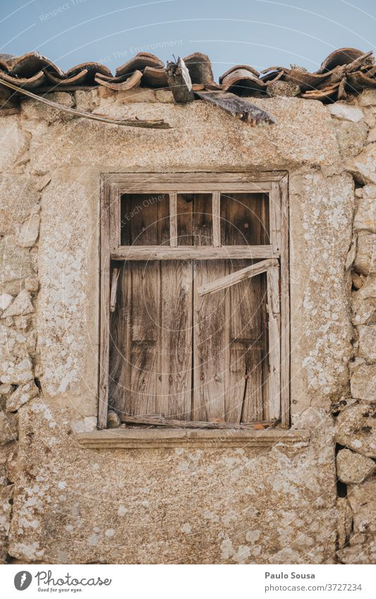 Old window Old town Old building Window Window frame Stone stone house Colour photo Building Town Exterior shot Wall (building) Wall (barrier) Architecture