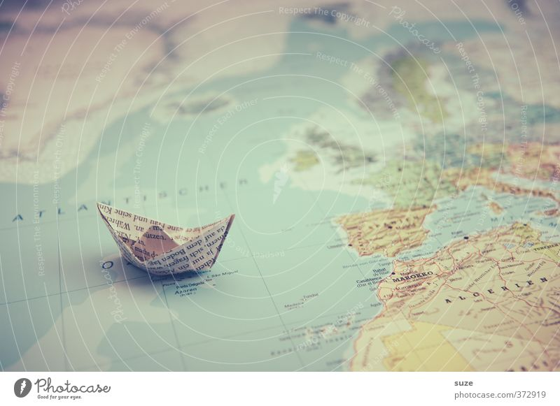 Vacation & Travel Ocean Travel photography Playing Small Watercraft Earth Leisure and hobbies Lifestyle Cute Paper Creativity Idea Symbols and metaphors