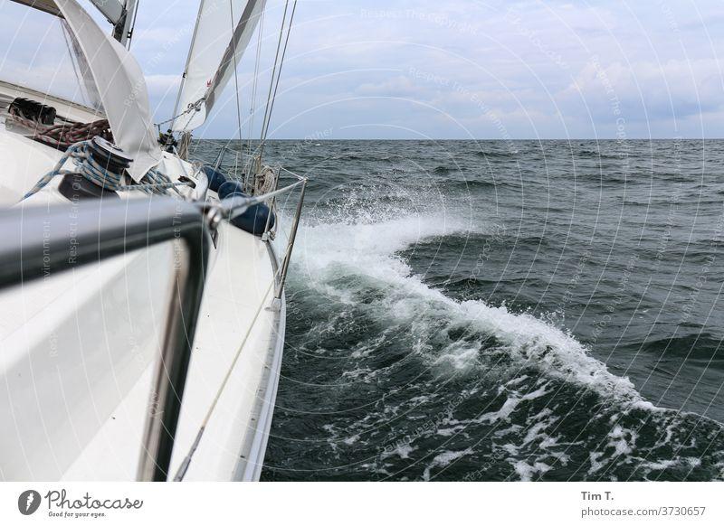 No country in sight ...At last Sailing sailing Baltic Sea Ocean Sailboat Water Sky Watercraft Summer Navigation Vacation & Travel Sailing ship Colour photo
