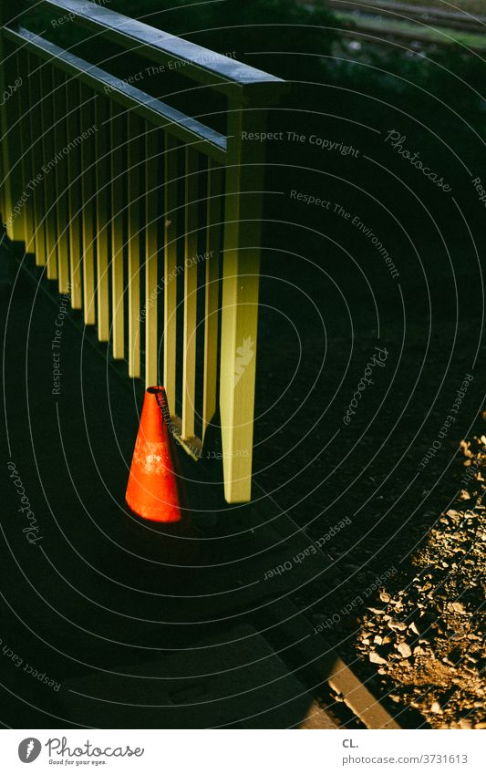 🎄 Merry Christmas 🎄 Pylon Traffic cone Skittle Transport rail Dark Red Green Arrangement Road sign Traffic infrastructure Signs and labeling Lanes & trails