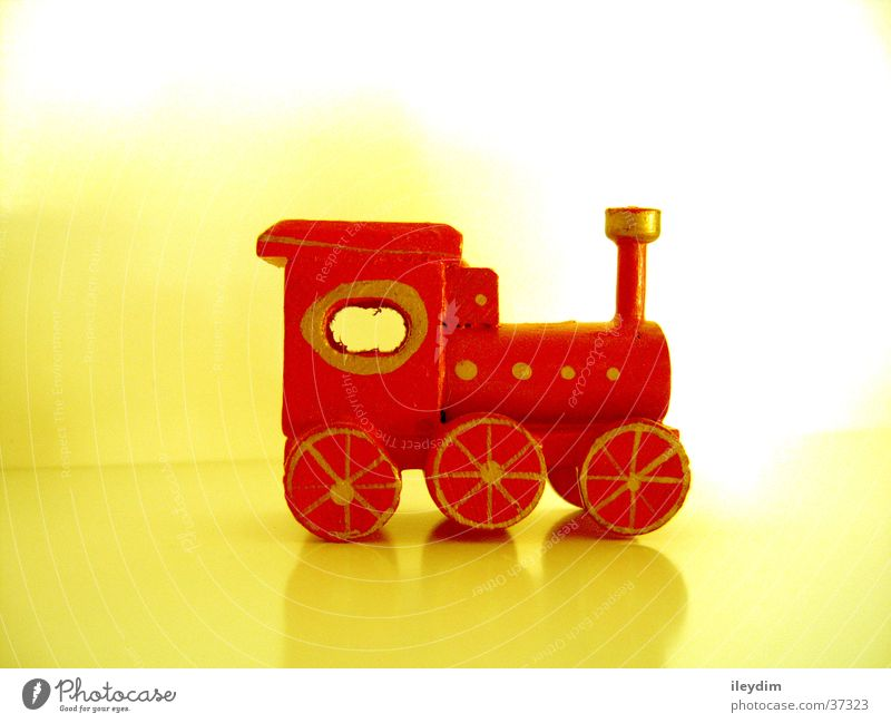 Red Playing Wood Small Free Railroad Toys Painting (action, work) Things Fine Engines Miniature