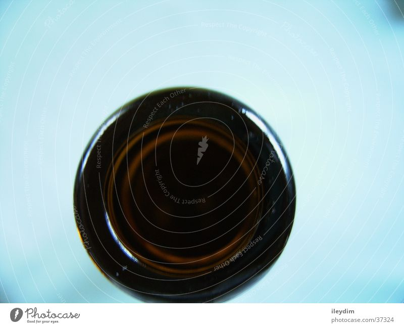 Bottle neck from above Dark Round Nutrition Glass Hollow Perspective