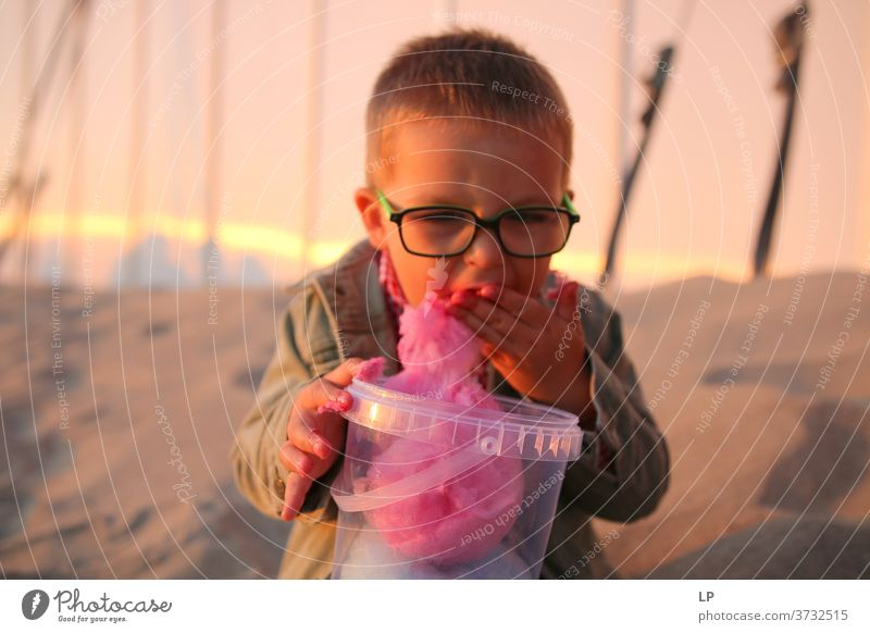 """child eating candy floss moment Happiness Childhood dream Childhood memory Children's game childhood glasses positive emotion Positive Humor hilarious funny,"""""""