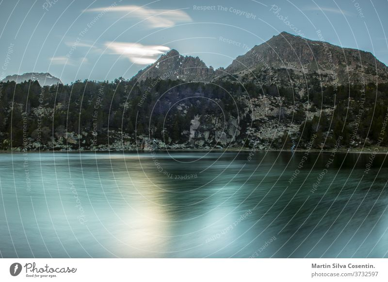 Lake in the circuit of Lake Pessons Grau Roig, Andorra. afternoon alpine andorra background beautiful blue cirque destinations ecology encamp environment