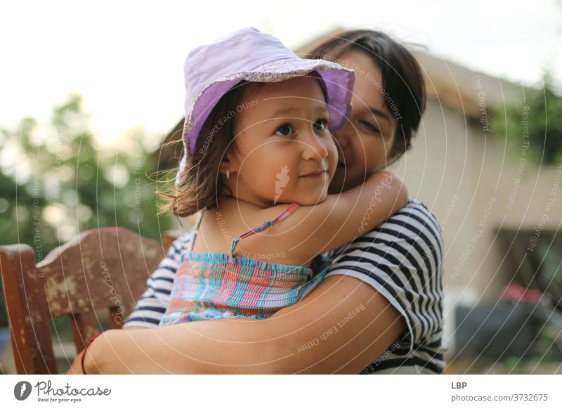 child hugging her mother Mother Childhood memory Curiosity Interest Exhaustion reality holding Childhood wish childhood Memory union complicity togetherness