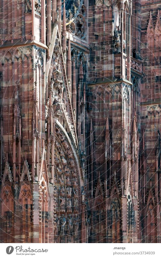 Strasbourg Cathedral Religion and faith House of worship Munster Dome God Masonry Historic Architecture City trip Strasbourg cathedral France Landmark Town
