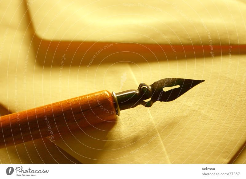 Old Romance Write Paper Letter (Mail) Mail Ancient Section of image Envelope (Mail) Old fashioned Quill Calligraphy Notepaper Object photography