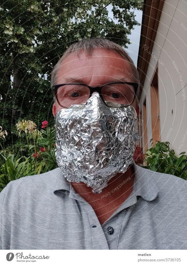 Mouth protection Aluminium Man tree Eyeglasses aluminium hat Safety Protection corona adapted