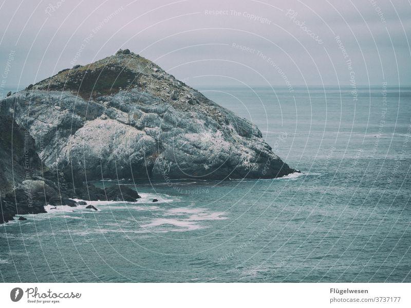 occupied island Island Rock formation Mountain Ocean Atlantic Ocean West Coast Americas USA Current Seals seals