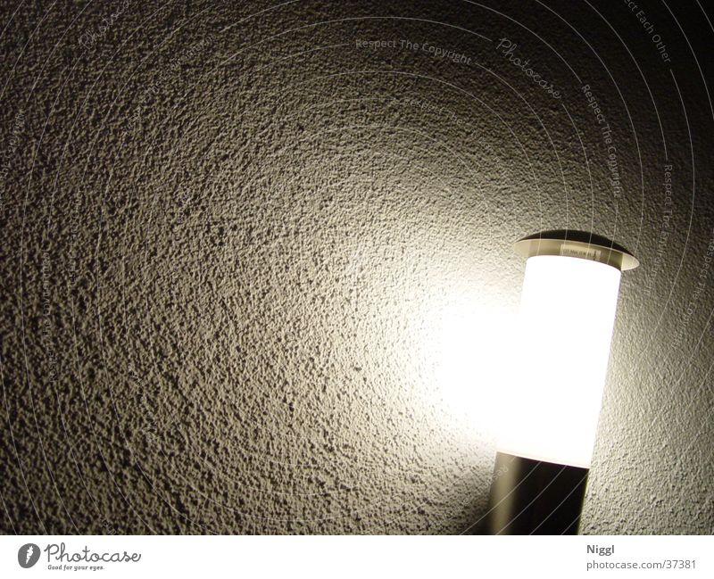 Lamp Dark Wall (building) Bright Photographic technology Wall light