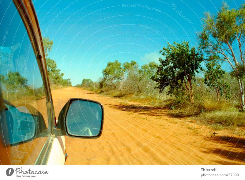 Road in Australia In transit Vacation & Travel Physics Dry Transport Car Sand Warmth Desert