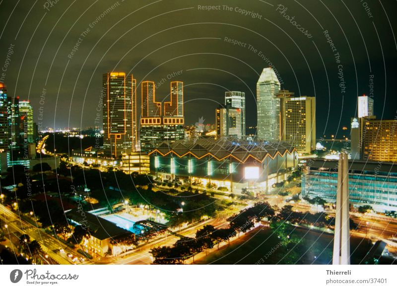 Singapore by Night #2 Town Long exposure Asia Success Skyline