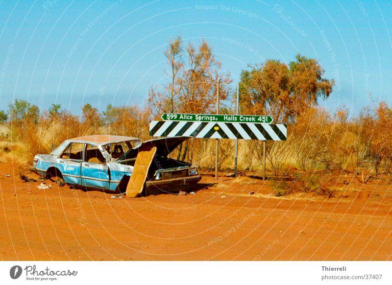 Far-off places Street Car Transport Broken Australia Scrap metal