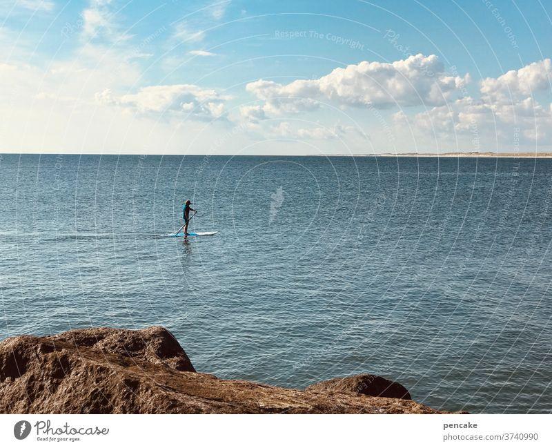 SUPer in Denmark! SEA Paddling North Sea Mole Hvide Sands Sports Aquatics Water Vacation & Travel Summer Ocean Landscape Sky Summer vacation super