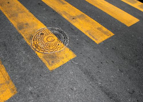 baselines (20) Deserted Structures and shapes Pattern Safety Protection Arrangement Problem solving Design Gray Yellow Circle Line Signs and labeling