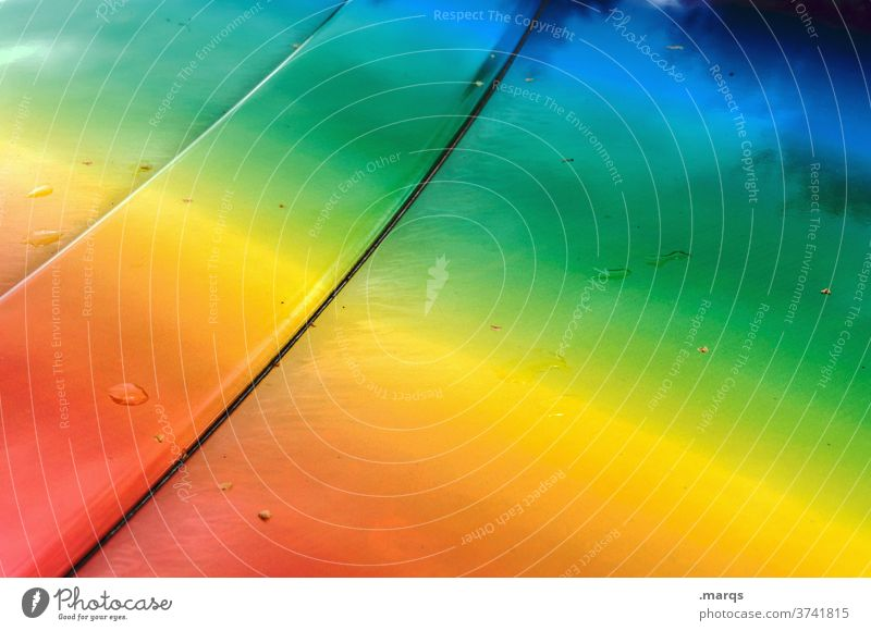 Rainbow Sheet Spectrum variegated Metal Line Abstract Drops of water colourful Varnish Car Hood Colour variety LGBT