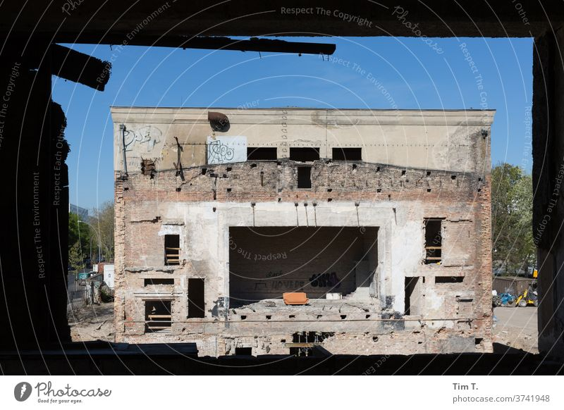 VEB Electric Coal Berlin Stage stage arts and leisure centre Culture Building for demolition Lichtenberg built House (Residential Structure) Manmade structures