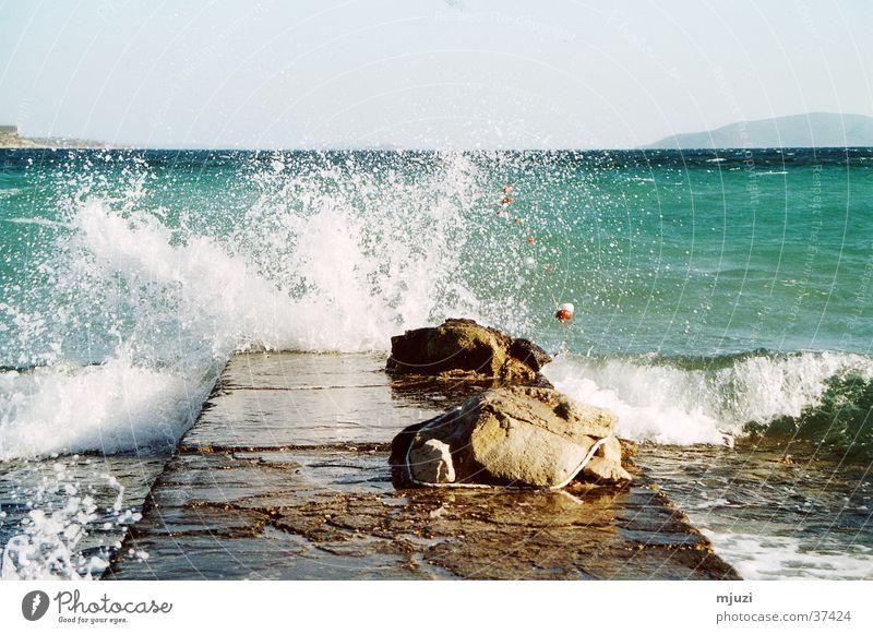 Water Ocean Vacation & Travel Waves Weather Gale Footbridge Inject Surf