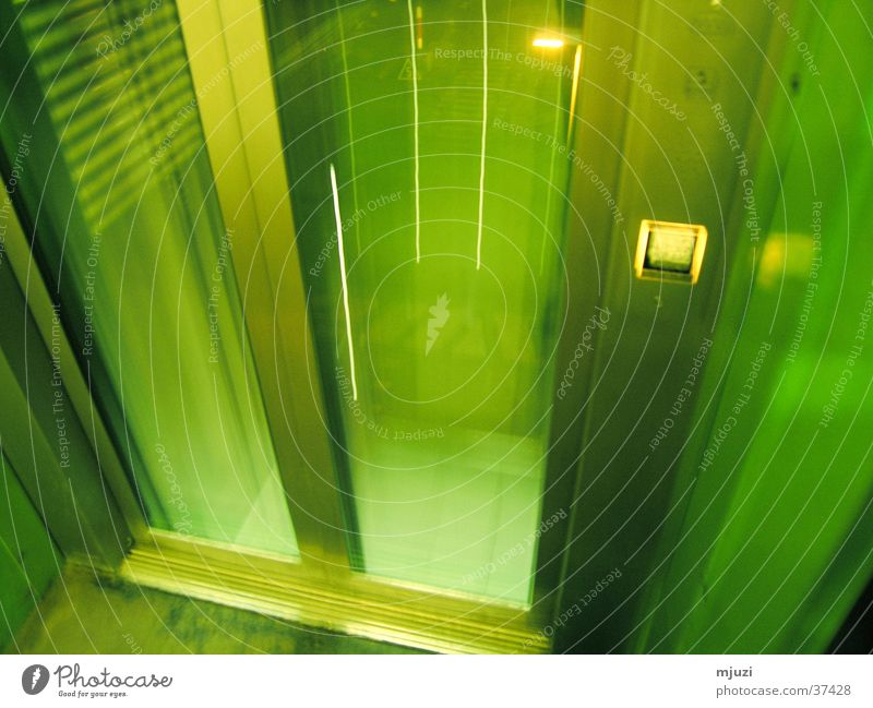 elevator Elevator Green Time travel Architecture Downward Beam-me-up scotty disapear