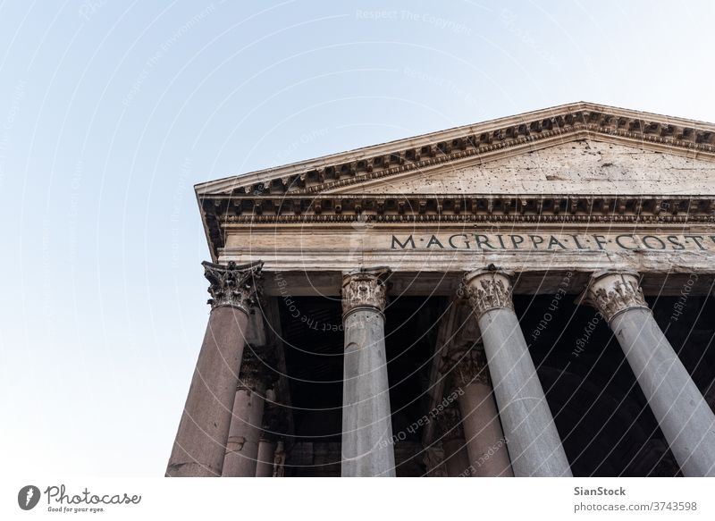 Ancient Roman Pantheon temple. Rome, Italy pantheon rome italy ancient dome architecture travel europe italian church old roman building monument landmark city