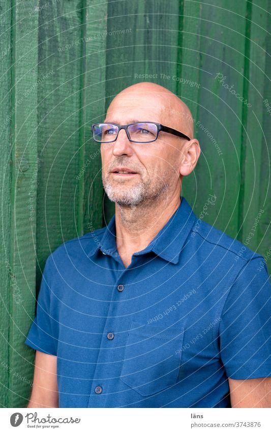 confident Man 60 years and older Male senior Masculine Senior citizen portrait Looking Authentic Bald or shaved head Designer stubble optimistic