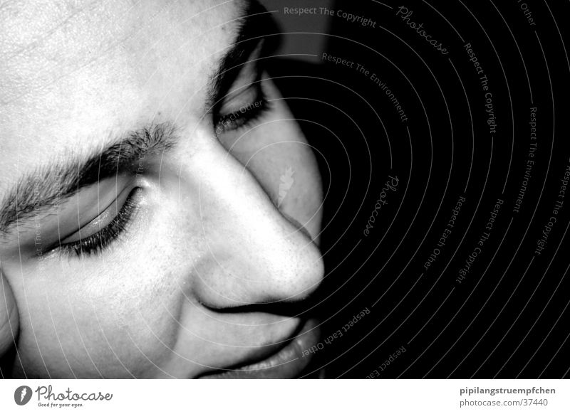 dream about Think Dream Woman Black & white photo Head Face