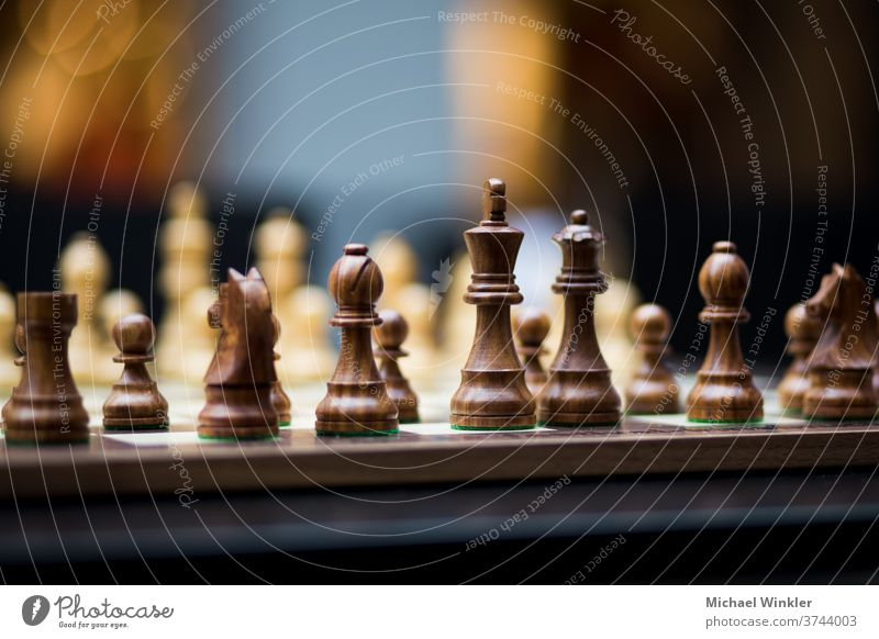 Chessboard with pawns and great depth of field action battle bishop black business challenge chess chess board chessboard chessman competition concepts conflict