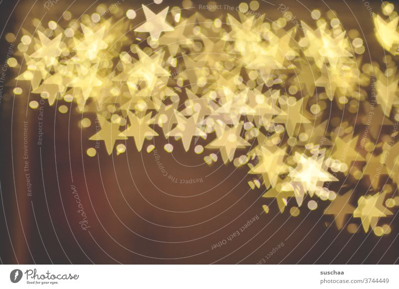 stars above stars bokeh Abstract Light luminescent Decoration Exterior shot Christmas Blur background Design Christmas & Advent Christmassy points