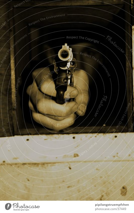 Man Hand Dark Weapon Handgun Shoot