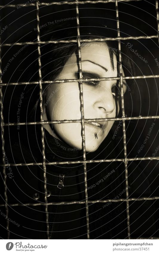 captured Woman Captured Grating Grief Dark Sadness Pain Loneliness