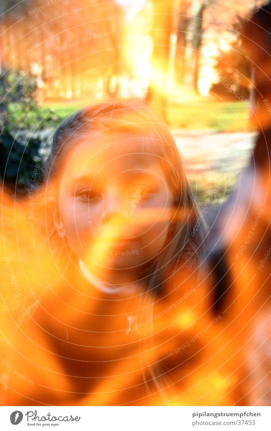 the fire girl Girl Light Yellow Woman Blaze Orange little sister. the four elements Exterior shot