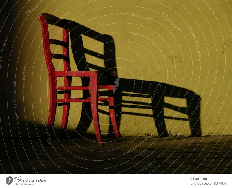 shadow cast Evening sun Furniture Calm Closing time Living or residing Chair Shadow